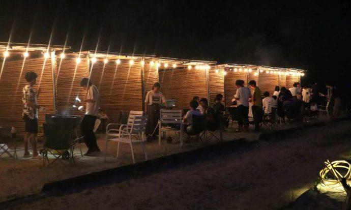 KIBOTCHAの夜のバーベキュー風景