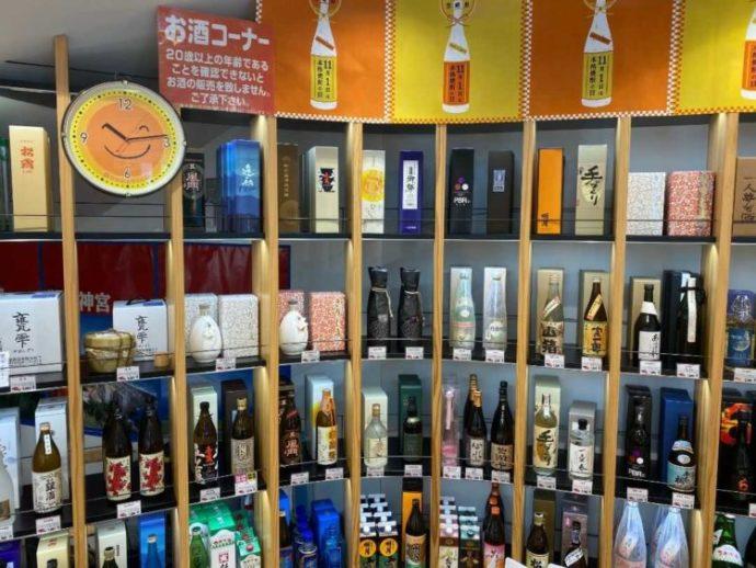 新宿みやざき館KONNE1階の焼酎コーナー