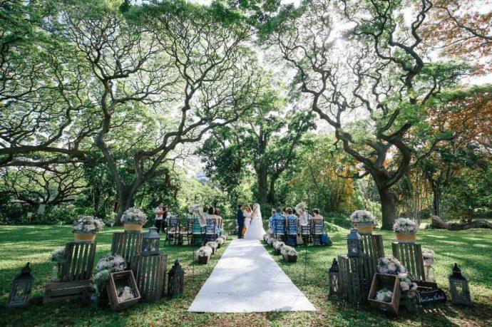 モアナルアガーデン プリンスロットフラッパーでの結婚式の様子