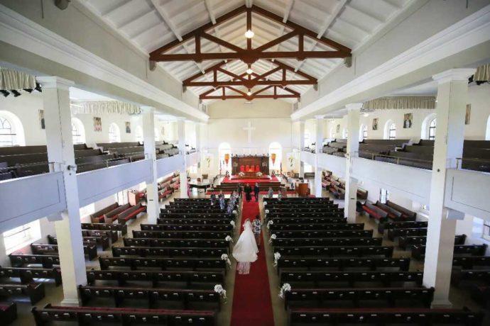 リノハワイの結婚式で使うチャペルの内観