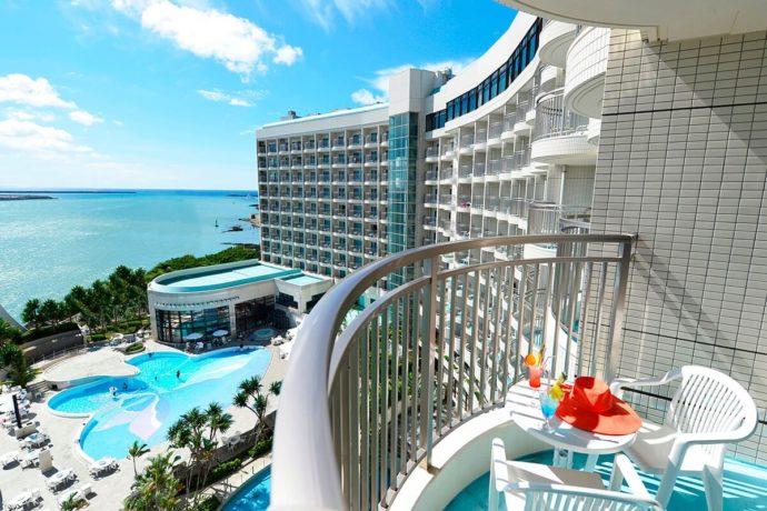 ロワジールホテル那覇の客室から見える景色