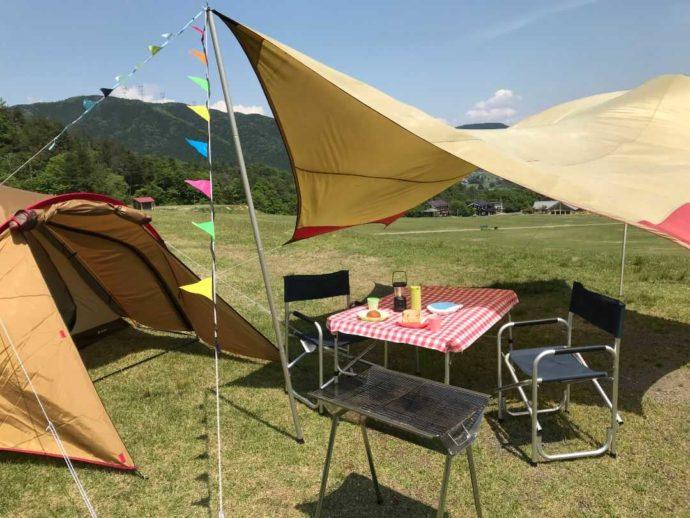 滋賀県高島市のキャンプ場「マキノ高原」の手ぶらでキャンプセット