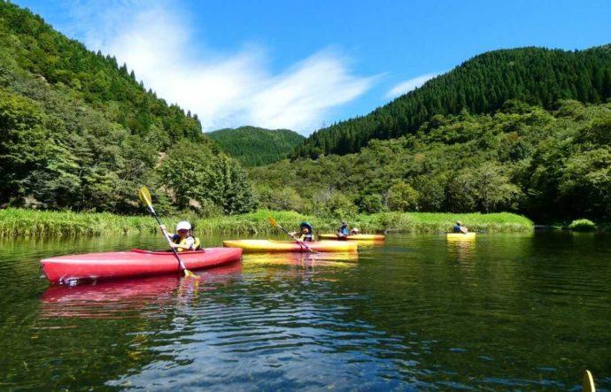 めいほう高原キャンプフィールドで体験できるカヌー