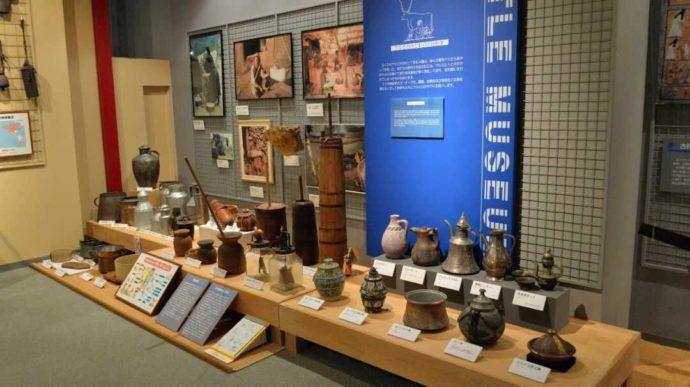 牛の博物館に展示されている酪農器具