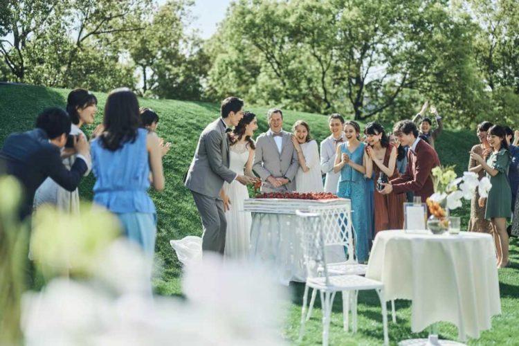 大阪府吹田市にある結婚式場「MIA・VIA」で行うパーティーの様子