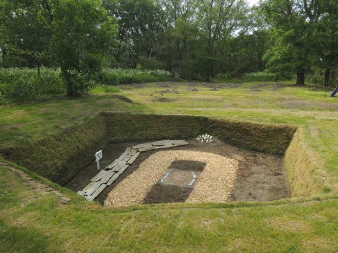 モヨロ貝塚館の野外遺跡