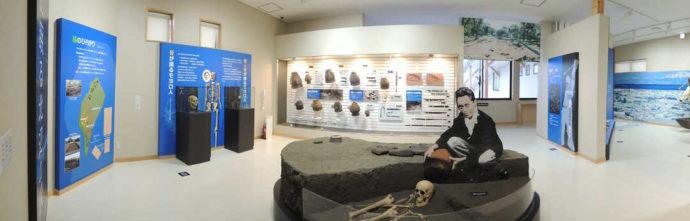 モヨロ貝塚館の展示室(墓)