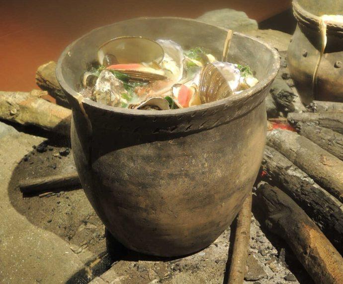 モヨロ貝塚館のオホーツク式土器