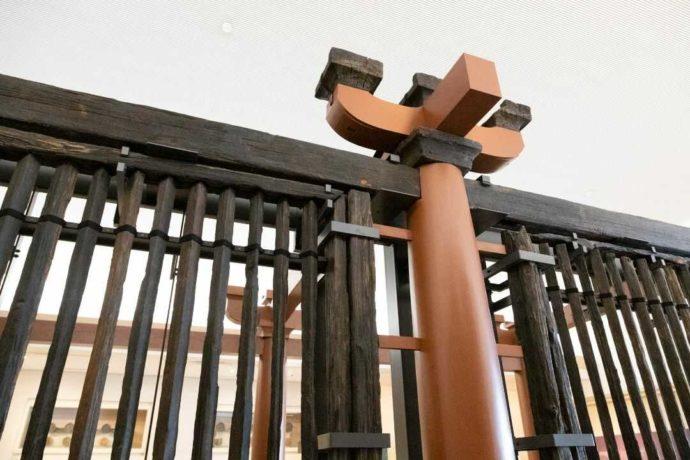 第二展示室・山田寺東回廊のアップ