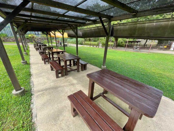 長崎県西海市にある「長崎バイオパーク」内の芝生エリア