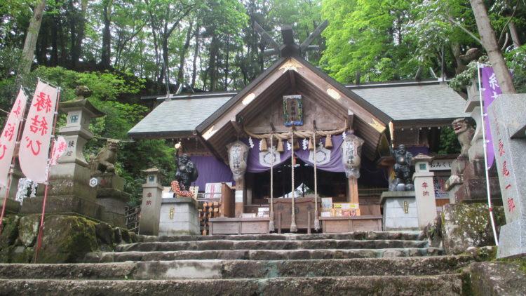 中之嶽神社まで良縁祈願に訪れる参拝者の数