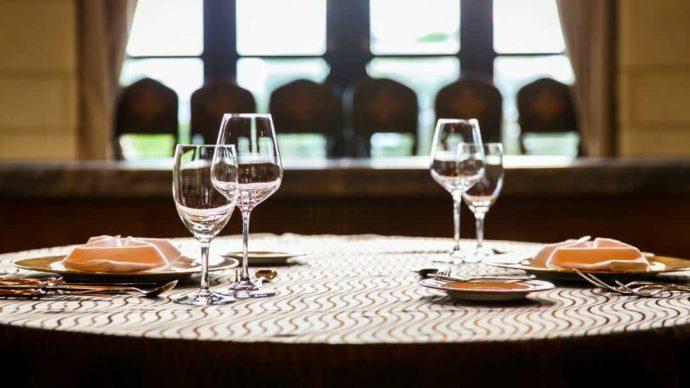南紀白浜ゴルフ倶楽部のレストランのテーブルコーディネイト