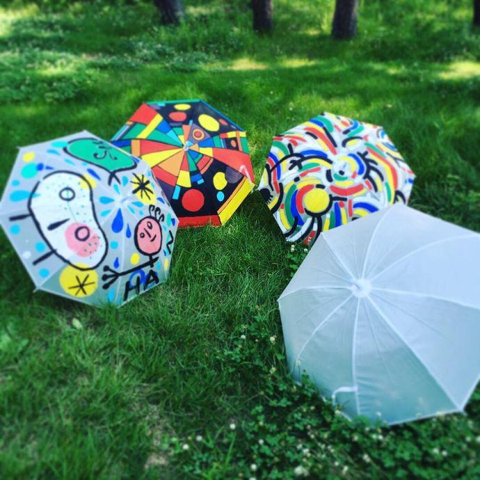 那須版画美術館で作成された傘