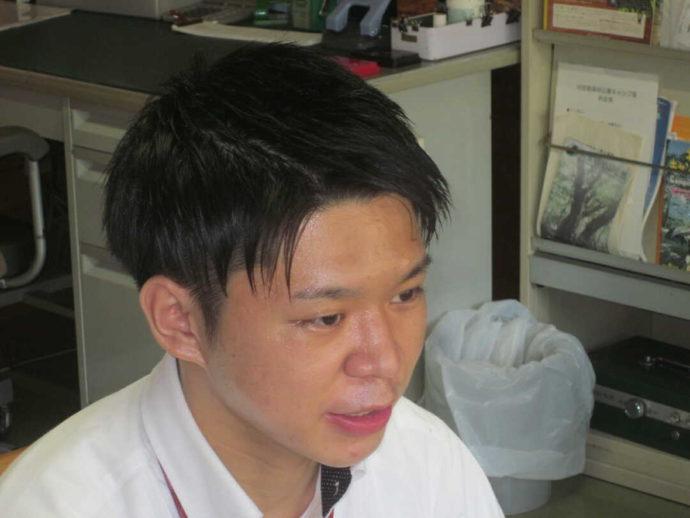 判官館森林公園キャンプ場の主任主事である小林さん