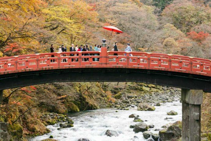 花嫁行列が神橋を渡る「神橋幸せ渡り初め」