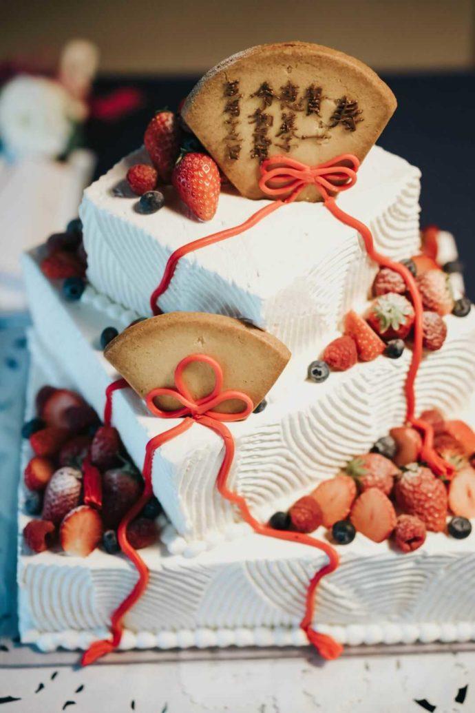 日光世界遺産ウエディングで用意していただける和のウェディングケーキ