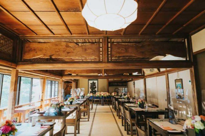 日光世界遺産ウエディングの和のテーブルコーディネート