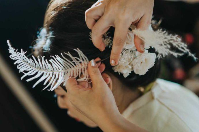 「日光世界遺産ウエディング」の花嫁準備風景
