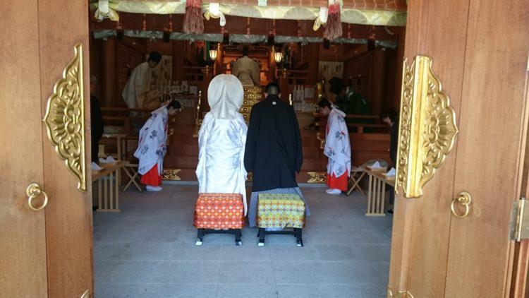 丹生川上神社上社の神前結婚式の流れ