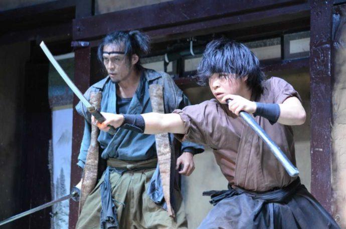 登別伊達時代村の忍者かすみ屋敷のショーの一幕