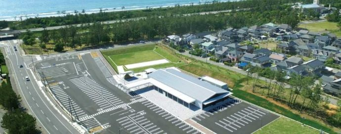 道の駅「のと千里浜」の空撮写真