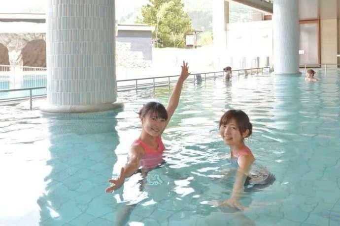 野沢温泉スパリーナの温泉は水着着用で楽しめる