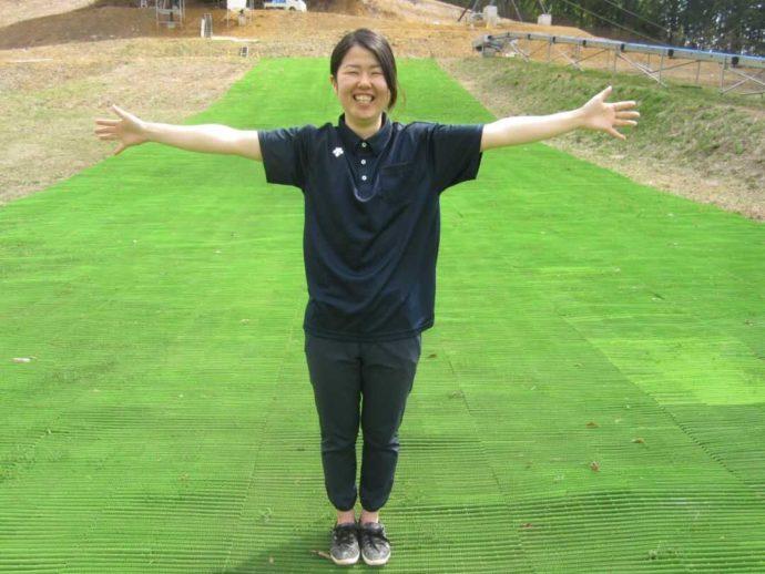 野沢温泉スポーツ公園スタッフの長嶺さん