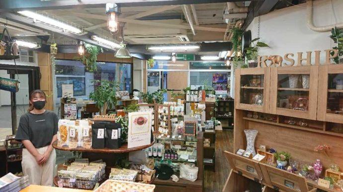 静岡県伊東市にあるアンテナショップNukumallのスタッフと店内