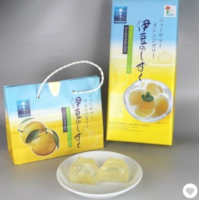 静岡県伊東市にあるアンテナショップ「Nukumall」の伊豆のしずく ニューサマーオレンジゼリー