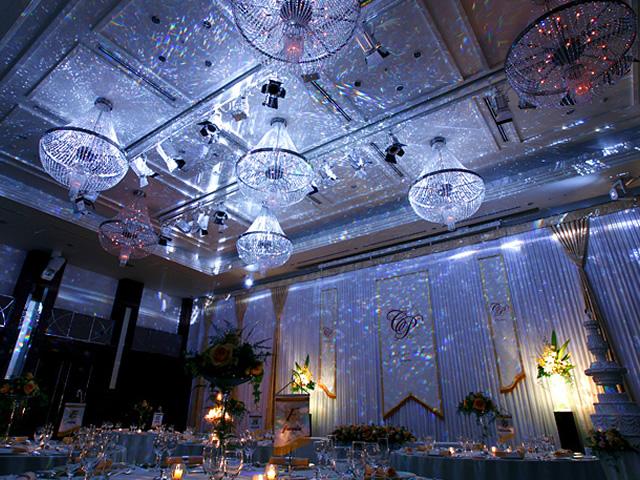 オークスカナルパークホテル富山の披露宴で行われる演出風景