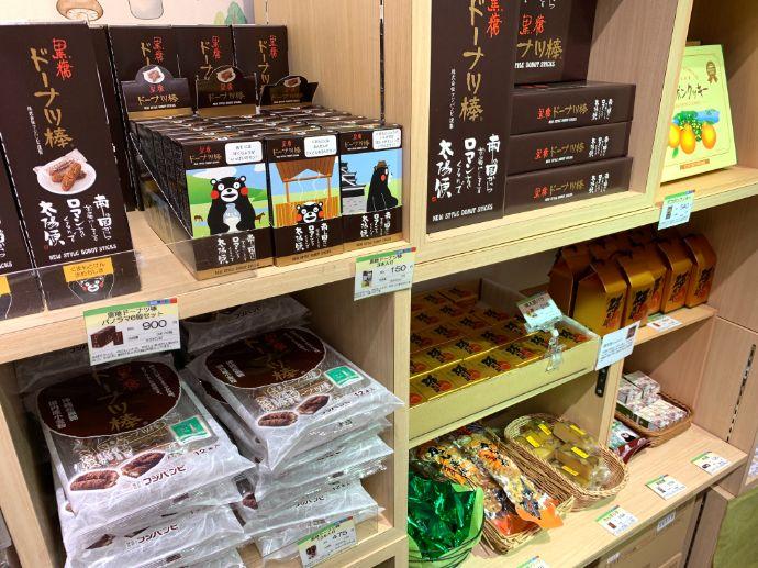 銀座熊本館のお菓子コーナー