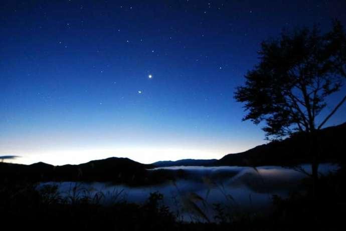 銀山平温泉 奥只見山荘で見られる満天の星空