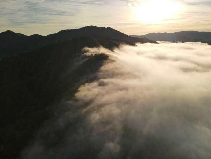 銀山平温泉 奥只見山荘付近の枝折峠の雲海