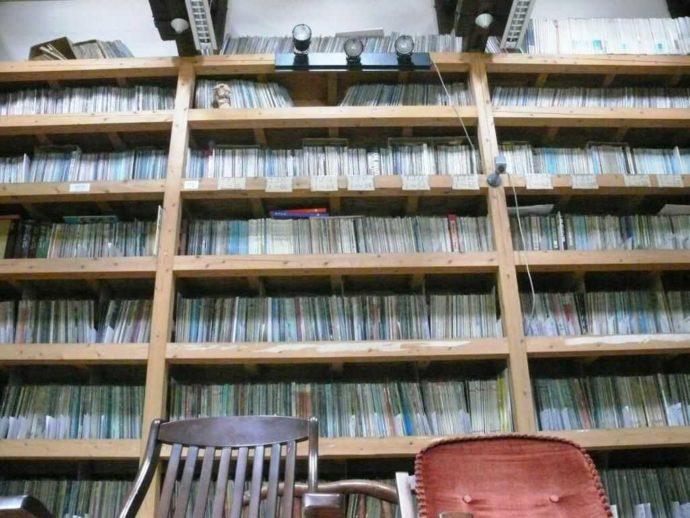 長崎県西海市にある音浴博物館のLPの部屋