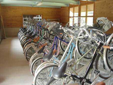 岡山県新見市にある別所アウトドアスポーツセンターでレンタルできる自転車