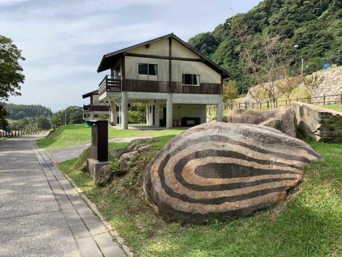 猿ケ城渓谷「森の駅たるみず」にある洋風コテージ
