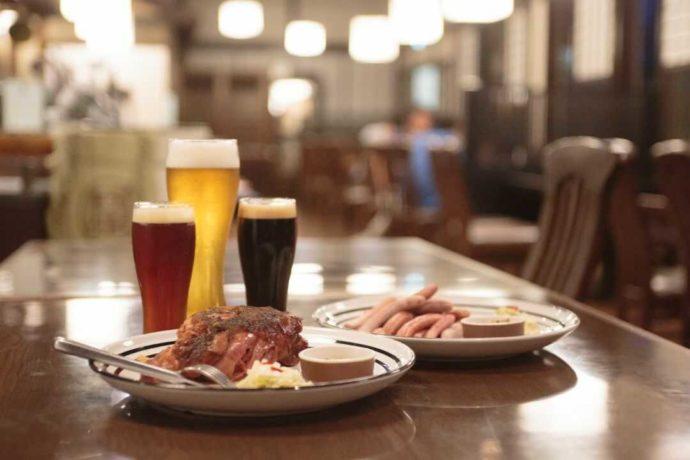 蔵元レストラン「世嬉の一」の料理とビール