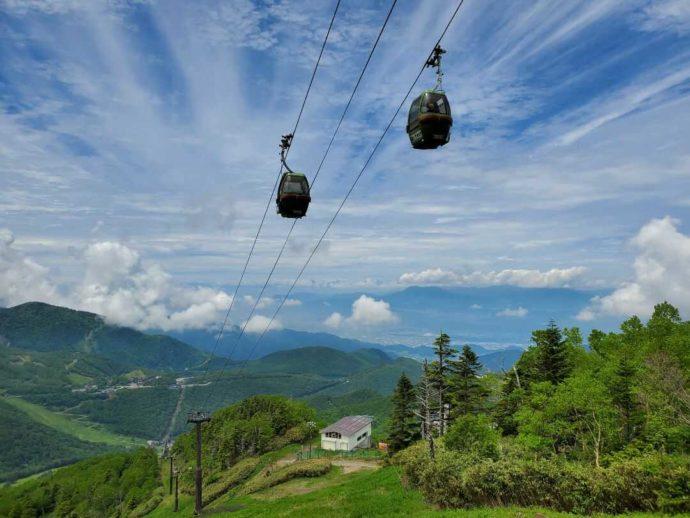 東館山高山植物園のオリンピックモニュメント付近からの景色