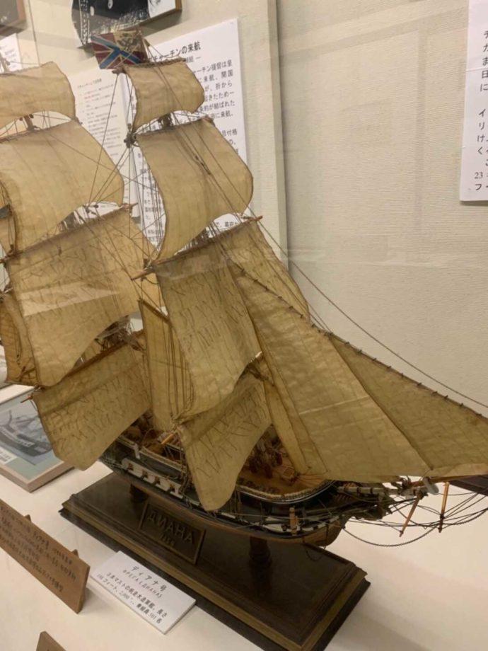 ロシアのディアナ号の模型