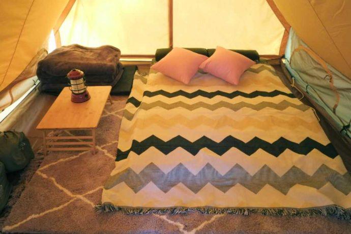 ひるぜん塩釜キャンピングヴィレッジにあるペポのベッドイメージ