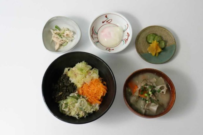 富山の郷土料理よごし丼ランチ
