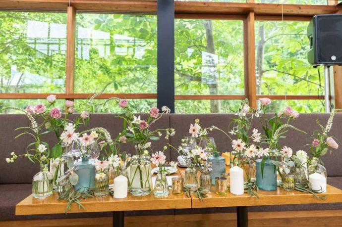 湘南プレミアムWeddingの可愛らしいお花の演出