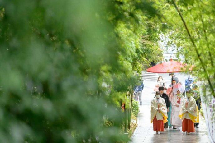 湘南プレミアムWeddingであげる神前結婚式の様子