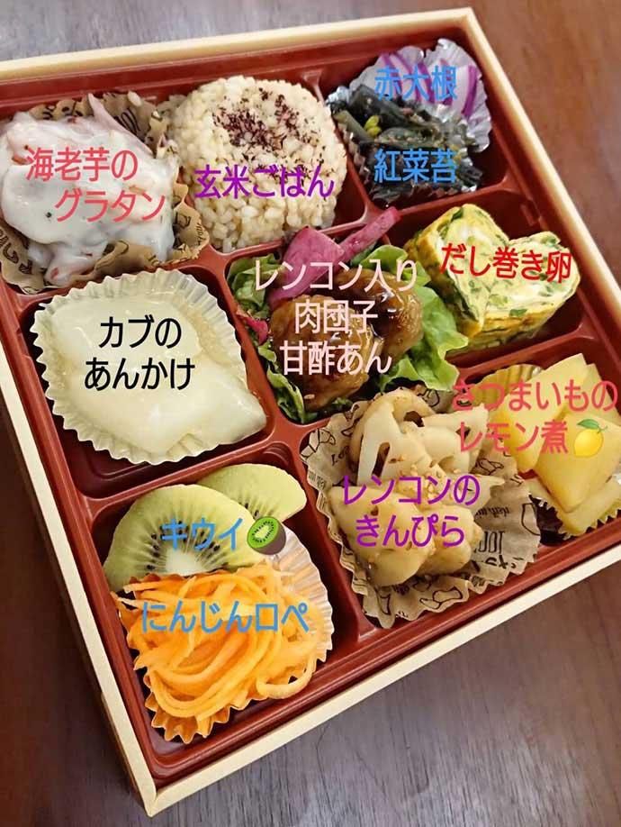 シンカフェの自然栽培SDGsお弁当