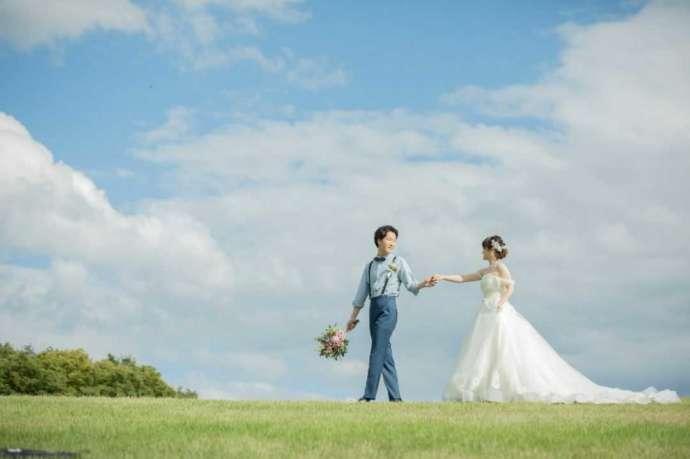 山形県・宮城県でフォトウェディングを行う「ソルテール」の洋装フォトウェディング