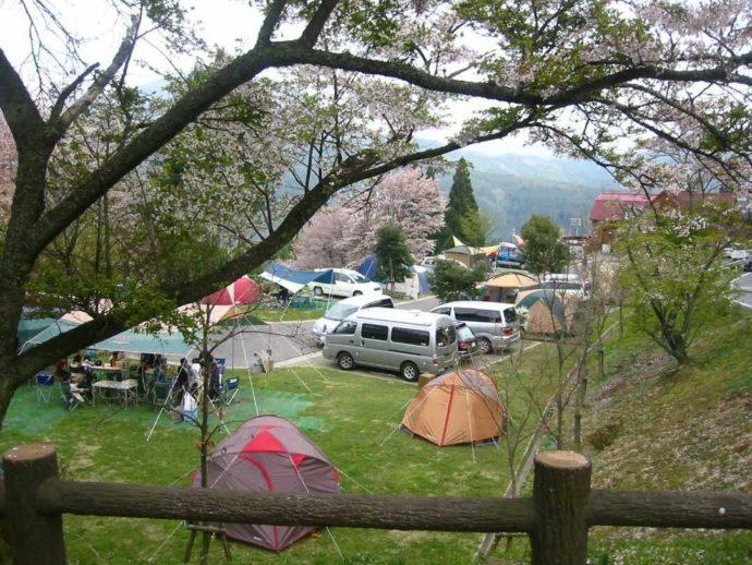 サンビレッジ曽爾奥香落オートキャンプ場ではわいわいキャンプができる