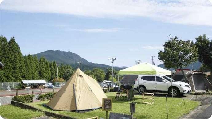 サンビレッジ曽爾奥香落オートキャンプ場のオートキャンプサイト