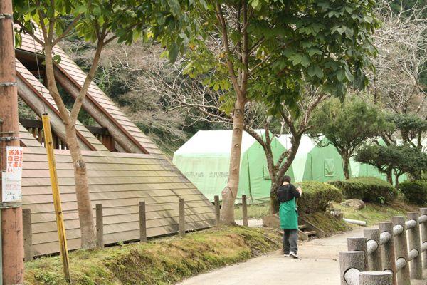 清流の森大川原峡キャンプ場の常設テント