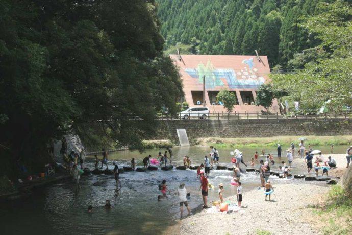 大川原峡キャンプ場河川プール