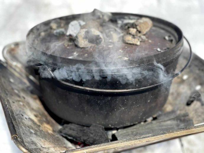 「星の降る森」の焚き火料理